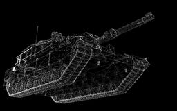 Militarny zbiornik Obrazy Royalty Free