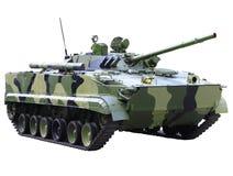 Militaru技术-坦克。隔绝 免版税库存图片