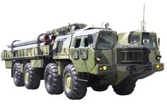 Militaru technics. Isolated Royalty Free Stock Photography