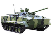 Militaru technics - tank. Isolated Royalty Free Stock Images
