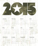 Military Abstract Calendar 2015. Vector. Stock Photography