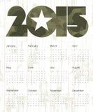 Military Abstract Calendar 2015. Vector. Stock Photography
