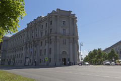 Military Academy of Material and Technical Support named after General of the Army Andrei Vasilyevich Khrulyov in St. Petersburg. St. Petersburg, Russia - June Stock Photography