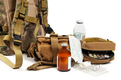 Military aid kit Stock Image