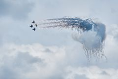 Military air fighters Su-27 Royalty Free Stock Photo