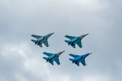 Military air fighters Su-27 Royalty Free Stock Photos