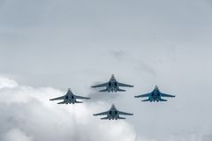 Military air fighters Su-27 Royalty Free Stock Photography