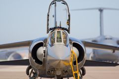 Military aircraft. Assigned to the combat and other warlike functions Royalty Free Stock Images