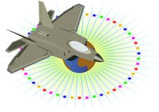 Military aircraft. Royalty Free Stock Images