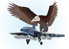 Military aircraft. Royalty Free Stock Photo