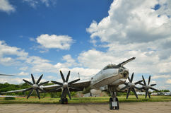 Military aircraft in the airfield Stock Photography