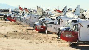 Military Aircraft Boneyard Royalty Free Stock Photos