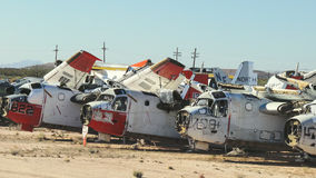 Military Aircraft Boneyard Royalty Free Stock Photography