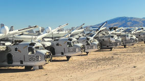 Military Aircraft Boneyard Royalty Free Stock Photo