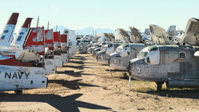 Military Aircraft Boneyard Royalty Free Stock Image