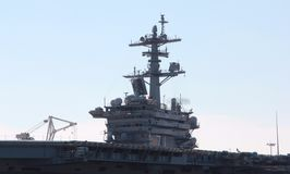 Military Aircraft Carrier Pier side Norfolk Virginia royalty free stock photos