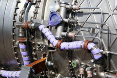 Military Aircraft Engine detail. Detail of a jet engine stock image