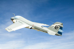 Military aircraft in flight Royalty Free Stock Image