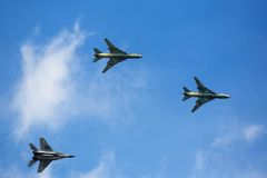 Military aircraft in flight Stock Photography