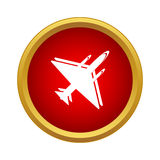 Military aircraft icon in simple style Stock Photography