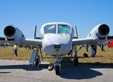 Military aircraft parked stock image