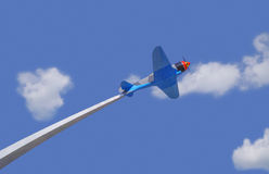 Military aircraft on pedestal Royalty Free Stock Images