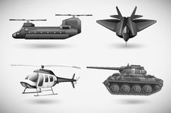 Military aircrafts. Illustration of the military aircrafts Stock Photo