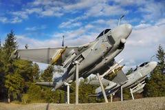 Military Aircrafts Memorial, USA. Historical American military aircrafts memorial Stock Image