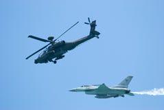Military aircrafts at Singapore Airshow 2010 Stock Photos
