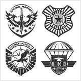 Military airforce patch set - armed forces badges and labels logo. Vector set Royalty Free Stock Photos