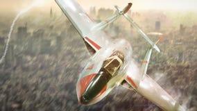 Military airplan on the speed Stock Photos