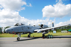 Military airplane A-10 Stock Image