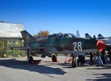 Су-25 military airplane airfield Royalty Free Stock Photography