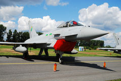 Military airplane Eurofighter 2000 Royalty Free Stock Photos