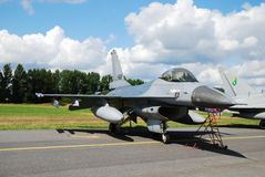 Military airplane F-16 Royalty Free Stock Photography