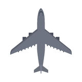 Military Airplane Isolated. Aircraft Plane Vector Royalty Free Stock Images