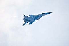 Military airplane su 27 Royalty Free Stock Photos