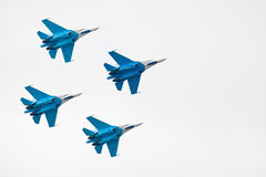 Military airplane su 27 Stock Images