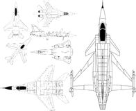 Military airplanes royalty free illustration