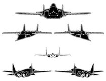 Military Airplanes Vector 04 Stock Photos