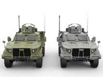 Military all terrain tactical vehicles Royalty Free Stock Images