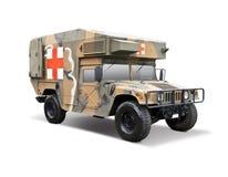 Military ambulance. HMMWV military ambulance isolated on white Stock Image