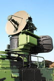 Military antenna. Mobile army defence radar antenna Stock Image