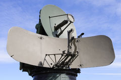 Military antenna. Mobile army defence radar antenna Stock Photography