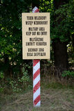 Military area keep out no entry sign Royalty Free Stock Photography