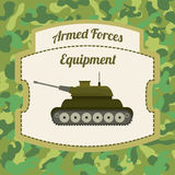 Military Armed Forces design. Military Armed Forces digital design, vector illustration 10 eps graphic Stock Photography