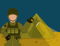 Military Armed Forces design Stock Images