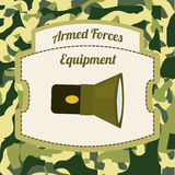 Military Armed Forces design. Military Armed Forces digital design, vector illustration 10 eps graphic Stock Images