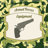 Military Armed Forces design. Military Armed Forces digital design, vector illustration 10 eps graphic Royalty Free Stock Images