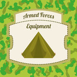 Military Armed Forces design Stock Photo